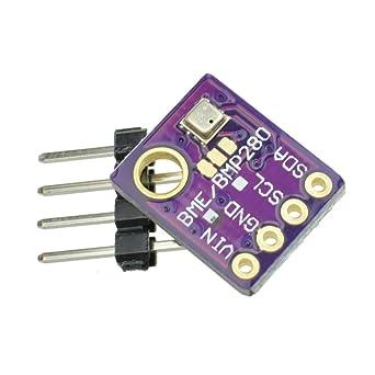 HALJIA GY-BME280 Digital Temperature Humidity Sensor Module Barometric Pressure Sensors Board Compatible with Arduino Raspberry Pi DIY I2C SPI 5V