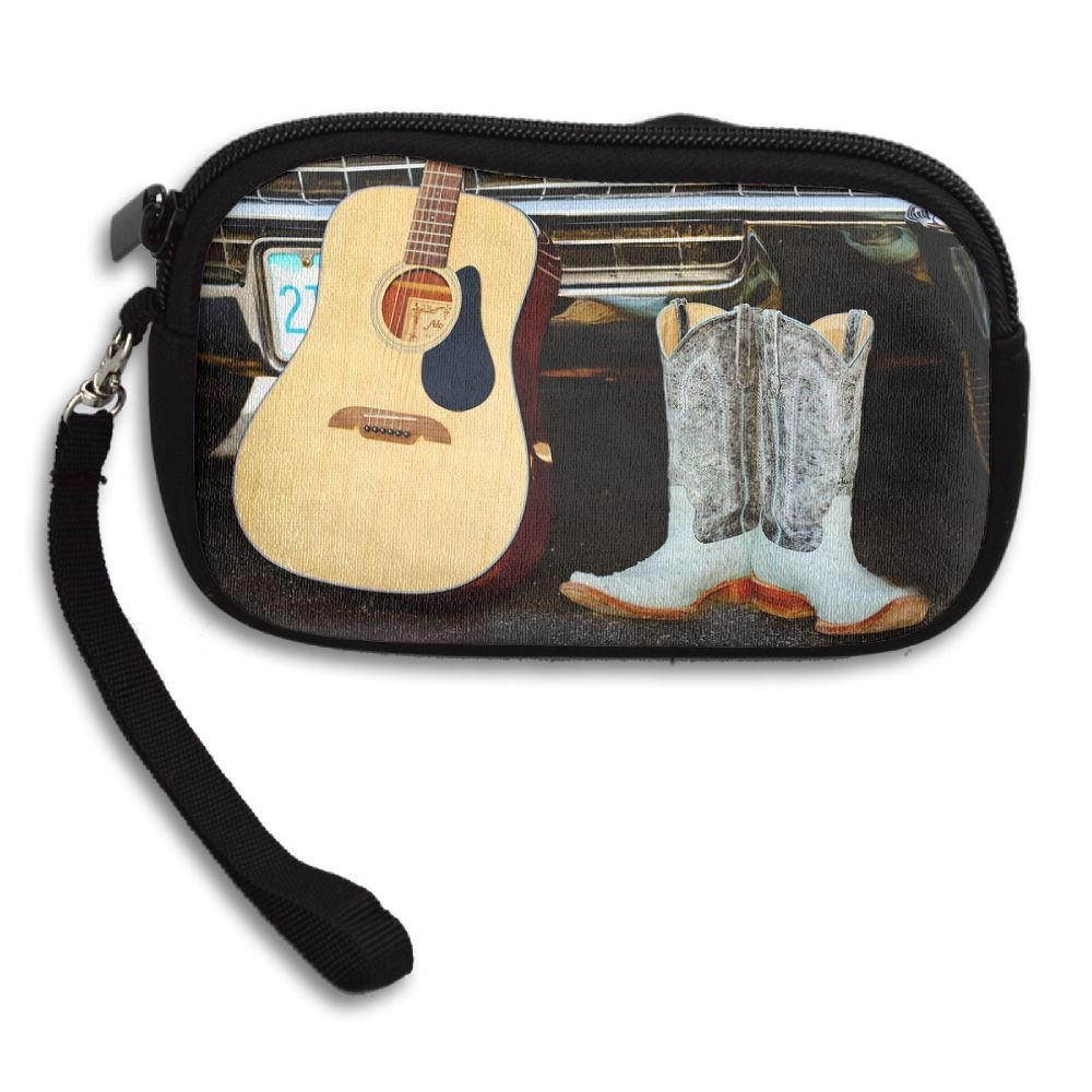 Personalized Custom Coin Purse with Cowboy Boot Image Printing Two Sides