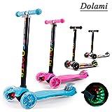 Twist & Roll Monopattino a 3 ruote per bambini con luci LED freestyle mini scooter,Graffiti/Rosa/Blu(3-10 anni, Massimo carico: 60 kg) + Kit protezione(Manubrio regolabile in altezza)