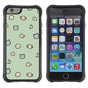 """Pulsar iFace Series Tpu silicona Carcasa Funda Case para Apple (4.7 inches!!!) iPhone 6 , Niños Patrón trullo sueño de la noche"""""""