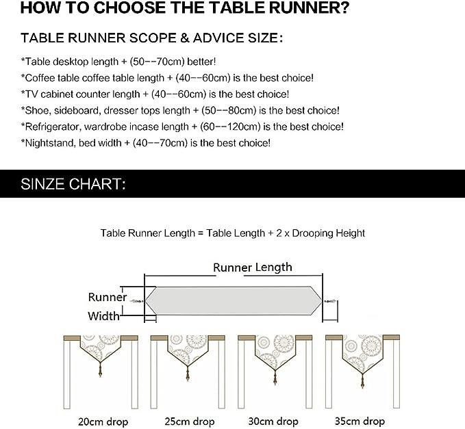 Western classique Noir et blanc ray/é chemin de table pour Home D/écor 30,5/x 160/cm Tissu 30x160cm
