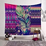 SUNSHINE EVERYDAY Forest Starry Tapestry Graffiti Series Art Printing Tapestry Bohemian Gold Mandala Tapestries Wall Hanging, Beach Towel Throw, Dorm Decoration, Tablecloth Japanese Art Curtain (14)
