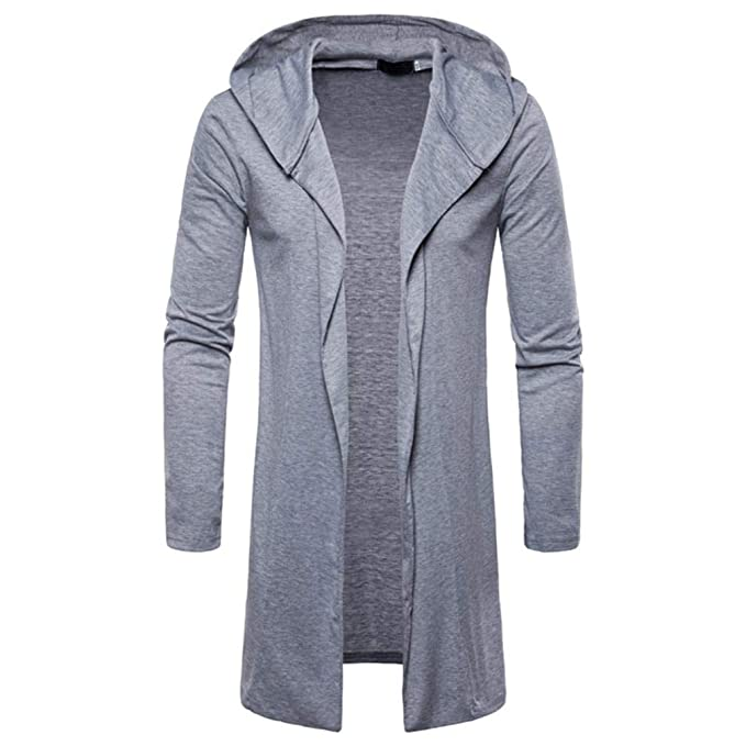 ♚Cárdigan con Capucha para Hombre, Moda Blusa de Manga Larga Chaqueta de Abrigo de Trinchera Larga Outwear Blusa Absolute: Amazon.es: Ropa y accesorios