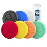 "Chemical Guys BUF_HEXKITS_8 Hex-Logic Buffing Pad Kit, 6.5"", 8 Items"