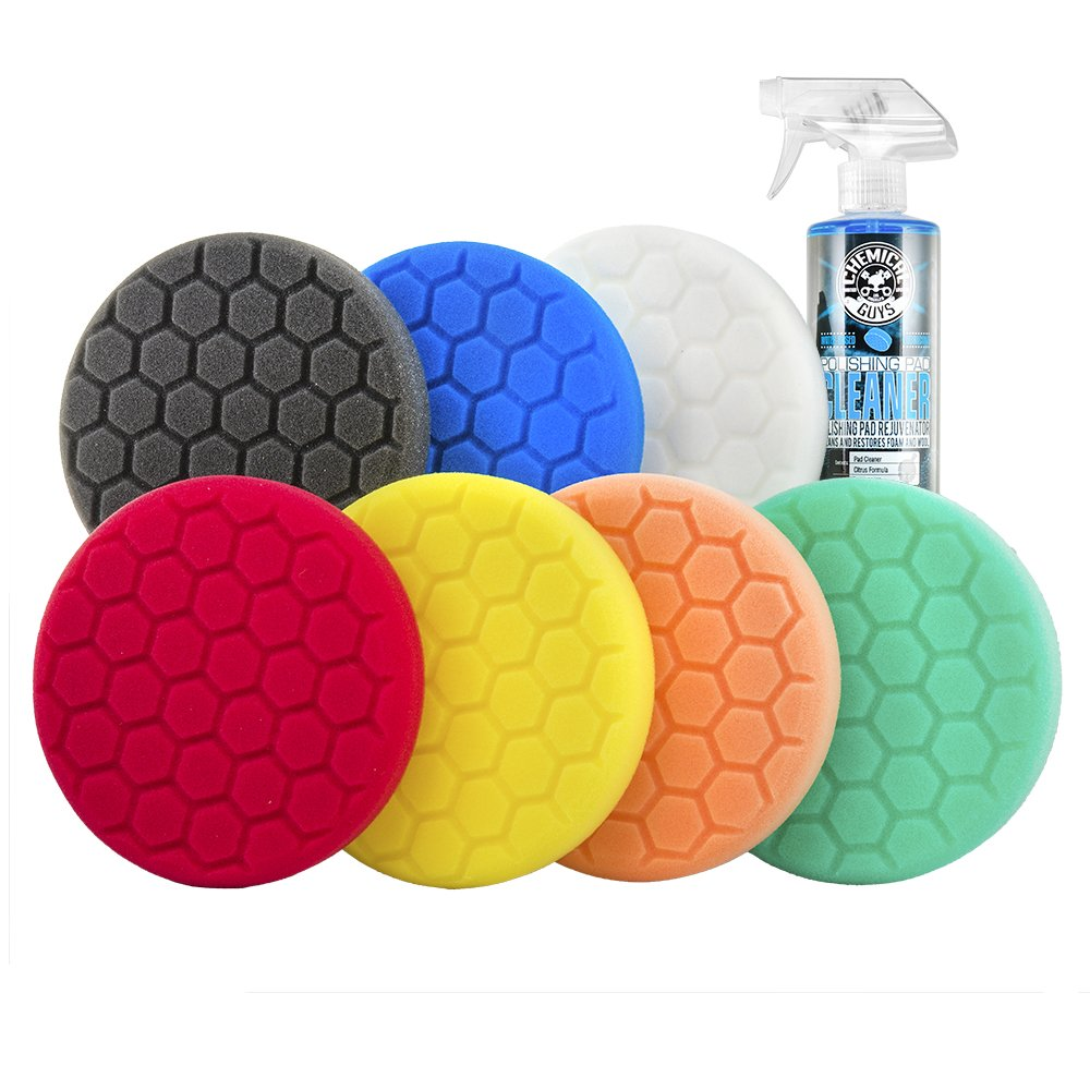 Chemical Guys BUF_HEXKITS_8 Hex-Logic Buffing Pad Kit (6.5 Inch) (8 Items) by Chemical Guys