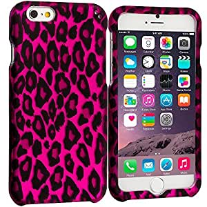 Accessory Planet(TM) Hot Pink Leopard 2D Hard Snap-On Design Rubberized Case Cover Accessory for Apple iPhone 6 Plus (5.5) by lolosakes