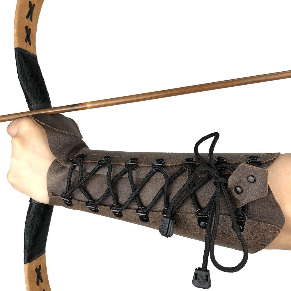 Strele New Archery Traditional Leather Armguard Arm Guard Longbow Flat Bow