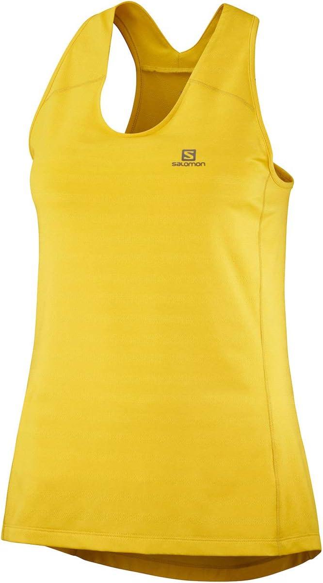 Mujer SALOMON XA Tank Camiseta De Tirantes Sulphur//Heather m