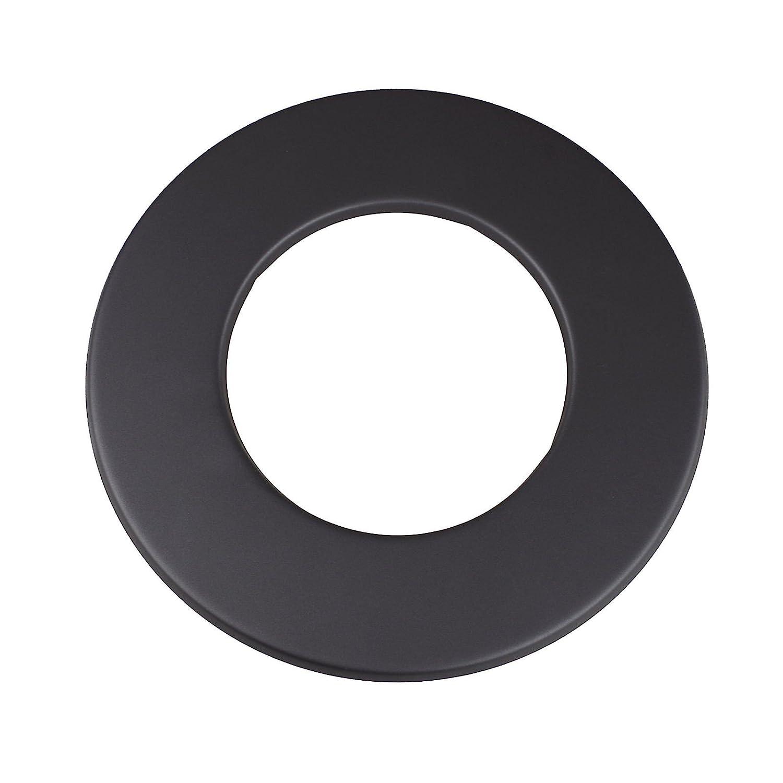 Kamino - Flam – Rosetón para tubo de chimenea (Ø 120 mm), Rosetón anillo para tubos de estufa, Rosetón conector para sistema de chimeneas, estufas, ventilaciones – acero resistente y durable – gris oscuro 331732