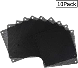 HFEIX 80MM Computer Fan Filter Pc Dust Filter Length3.15x3.15Inches (LXW) Black - 10 Pack