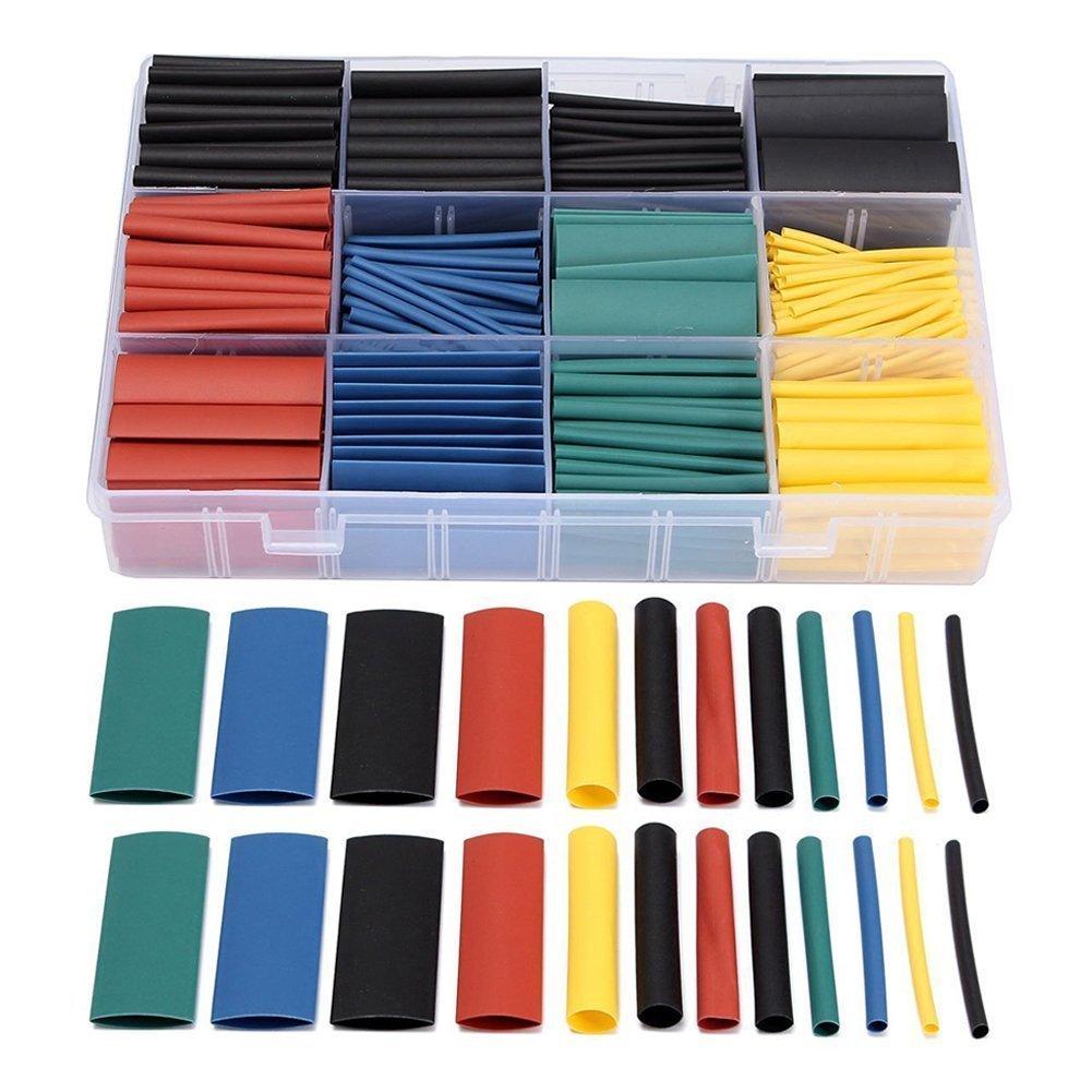 Geekbox/® 530/pcs Heat Shrink Wire Wrap c/âble Sleeve tubes /à section des Ensembles /électrique Tube isolant en 5/couleurs et 8/tailles