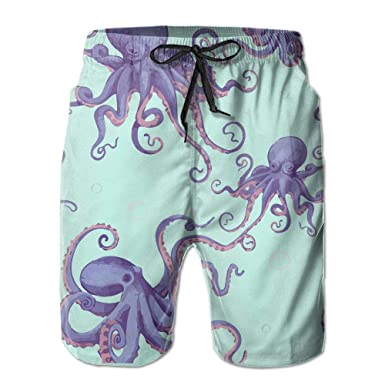 Amazon com: Zhenyun Octopus with Bubbles Mens Quick Dry Swim