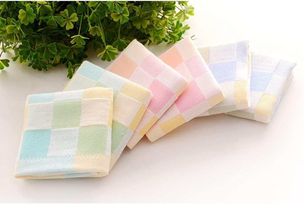 Lurrose 3pcs Baby Washcloth Reusable Fadeless Cotton Extra Soft Wipe Cloth Face Cloth Face Towel for Baby Kid Newborn