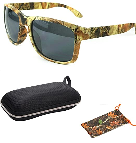 24684fe5a42 Amazon.com  Camouflage Fishing Forest Outdoor Camo Hunting Unique Style Men  Women Sports Wrap Sunglasses Eyewear Shades with Free Pouch  Shoes