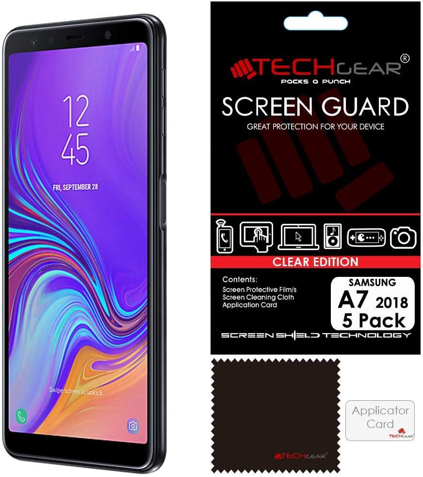 TECHGEAR - Protectores de Pantalla para Samsung Galaxy A7 2018 (SM-A750FN Series), Transparente: Amazon.es: Electrónica