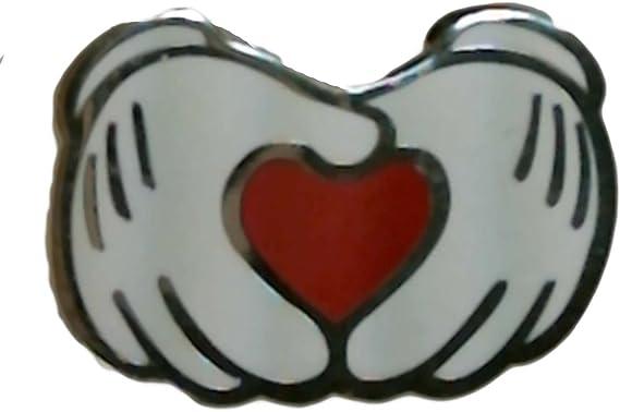 Mickey Mouse Hands Heart Pin Disneyland Resort 2001
