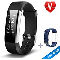 KG Physio | Premium Fitness Tracker Watch | Bluetooth Heart Rate Monitor, Pedometer, Sleep Tracker and Exercise Tracker | IP67 Waterproof Rated With A Touch Screen Display Designed For Android & IOS
