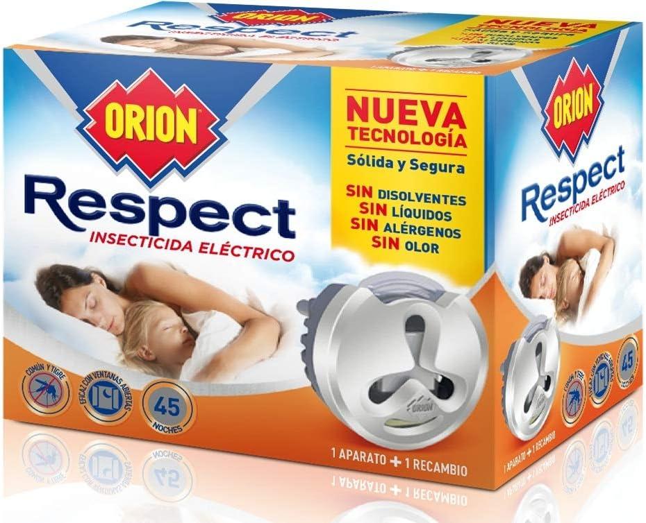 Orion - Respect Insecticida Eléctrico para Mosquitos, Sin Disolventes y Sin Alérgenos - 1 Aparato + 1 Recambio - [Pack de 3]