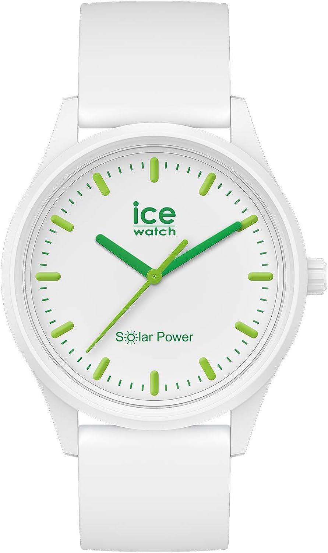 Ice-Watch - ICE solar power Nature - Reloj bianco para Hombre (Unisex) con Correa de silicona - 017762 (Medium)