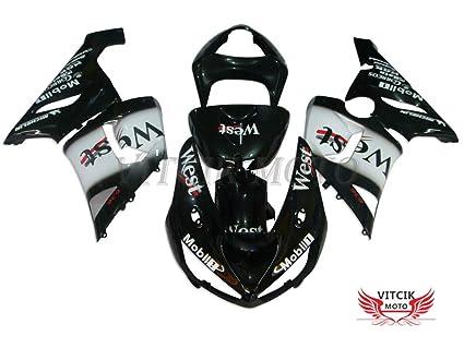 vitcik (Kits de carenado ajuste para Kawasaki Ninja ZX6R ZX ...