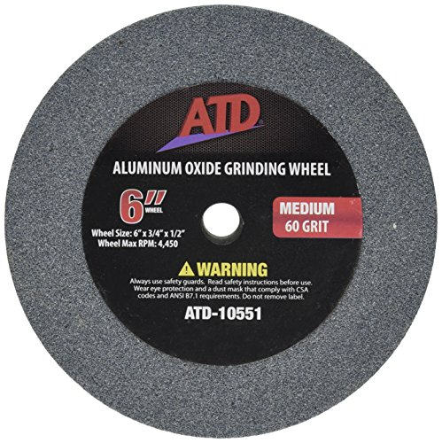 "ATD Tools 10551 6"" Medium Replacement Grit Grinding Wheel"
