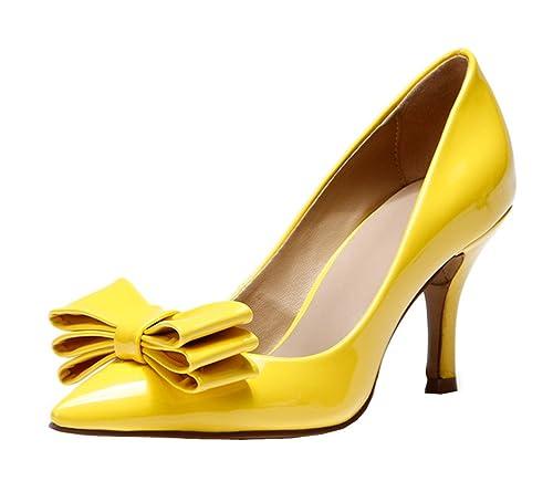 41bc6b2f TDA - Zapatos Sexy para Mujer, con Punta, de Piel, talón Medio, para ...