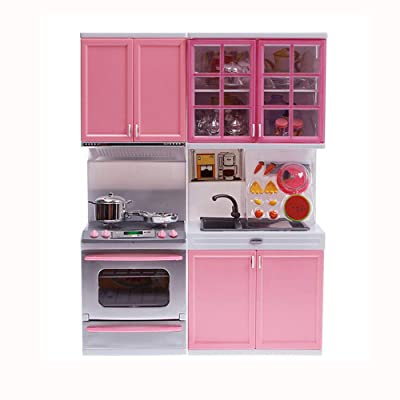 Fan-Ling Xmas Gift Mini Kids Kitchen Pretend Play Cooking Set Cabinet Stove Girls Toy Children Kid Educational Develop Skills Toy Kid Gift for Toys Utensils,Preschool Early Learning Education Intelli: Home & Kitchen [5Bkhe0502415]