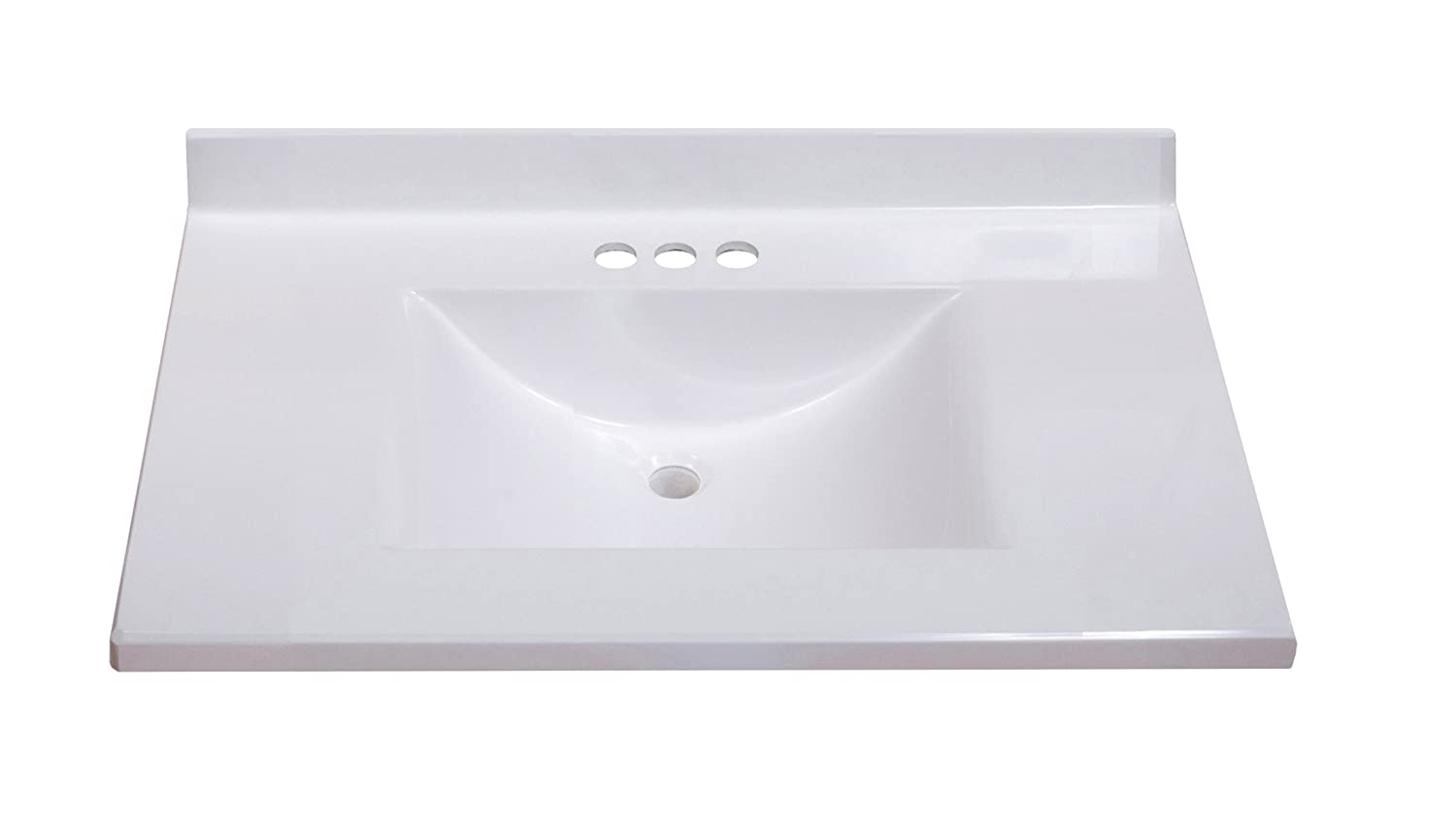 22 inch wide bathroom vanity - Imperial Fw3122spw Center Wave Bowl Bathroom Vanity Top Solid White Gloss Finish 31 Inch Wide By 22 Inch Deep Vanity Sinks Amazon Com