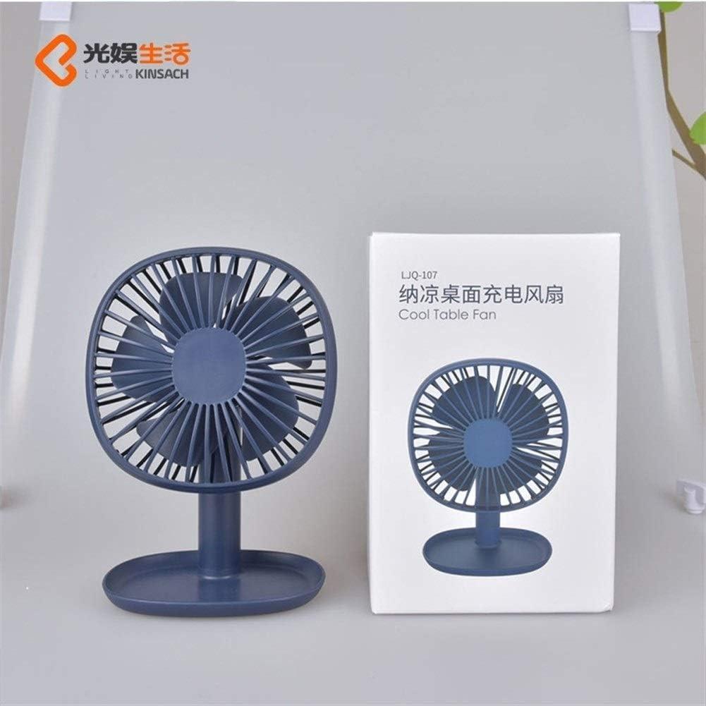 Color : Pink HAOXIONG-ZHANG USB Fan Mini Mute Galvanizing Fan 1200mAh 5 Leaf Desktop Fan Office Domicile Table Fan Electric Fan