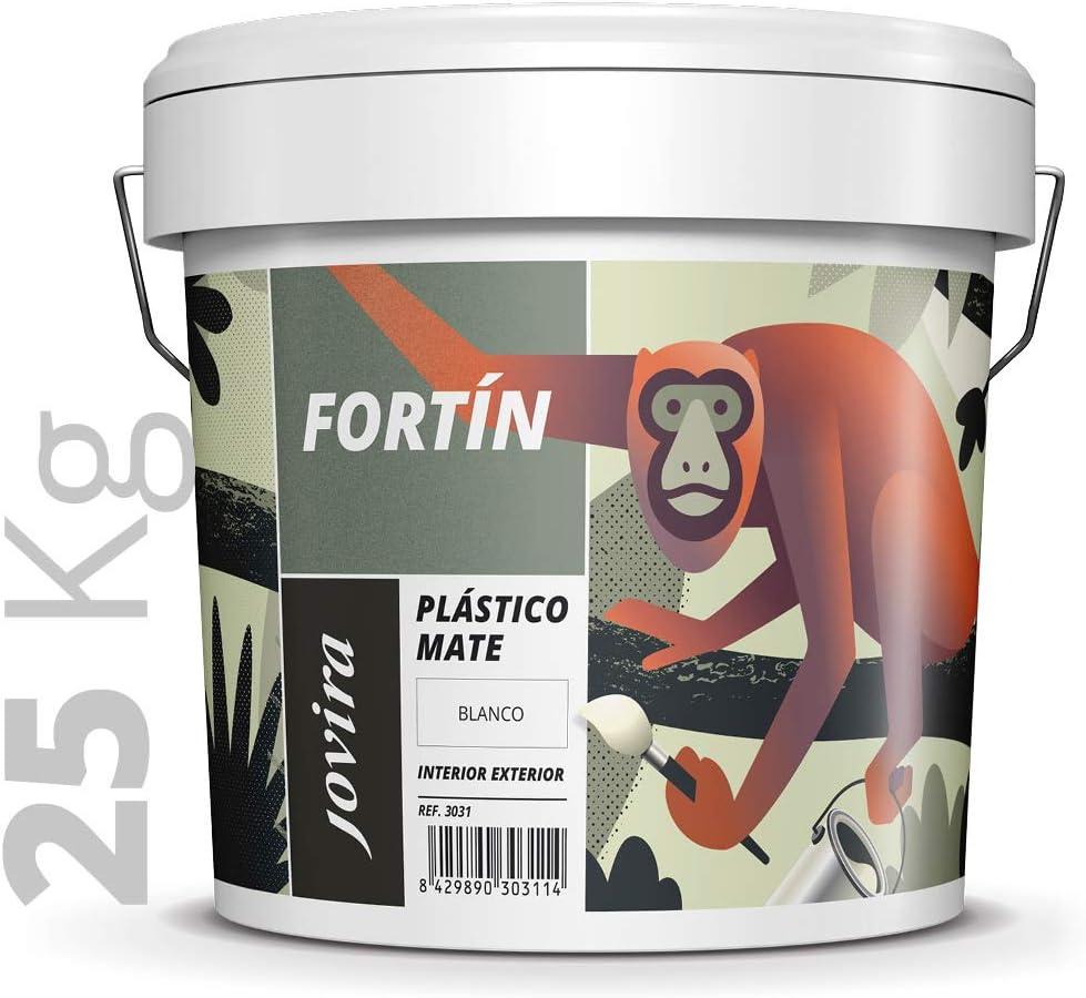 PINTURA MATE EXTERIOR/INTERIOR LAVABLE, Super cubriente,blanco lustroso.25 KG