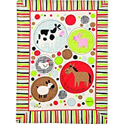 Izzy Farmtasia Nursery Blanket, Isaiah 11:6 for Boys