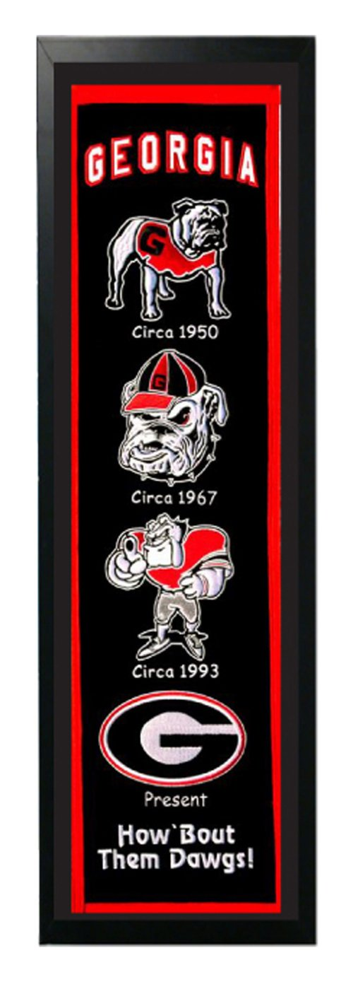 Encore Select 374-05 NCAA Georgia Bulldogs Banner Frame, 14-Inch by 37-Inch by Encore