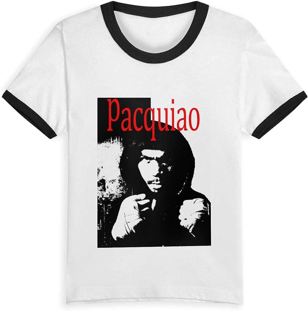 Reina Elena Manny Pacquiao Boxer, 2-6Y Cartoon Print Boys T Shirt Summer Infant Niños Niñas Fashion Camisetas Ropa Algodón Bebé Contraste Color Negro Negro (3 años: Amazon.es: Ropa y accesorios