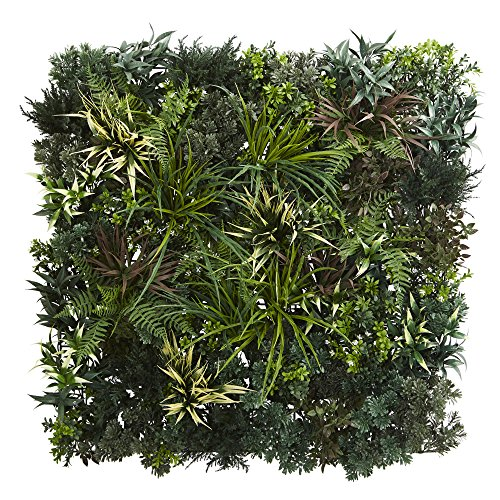 Nearly Natural Greens & Fern Artificial Living Wall, 3'