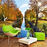LHDLily 3D Wallpaper Mural Wall Sticker Thickening Custom Photo Wall Stickers Larges And American Pastoral Style Tv Backdrop 300cmX200cm