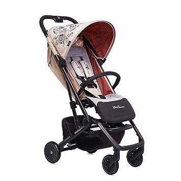 Cochecito de bebé, puede sentarse paraguas luz reclinable mini portátil con 5 puntos arnés de seguridad de múltiples posiciones asiento reclinable gran ...