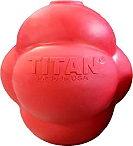 Titan Busy Bounce, Tough Durable Treat Dispensing Dog Toy with Unpredictable Bounce| Made in USA