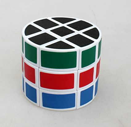 Rubiks-Clock Puzzle Cylinder Barrel Shaped Kids Brain Teasers Intellectual