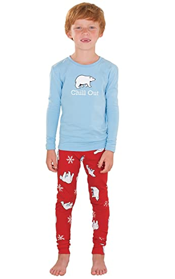 1ea8d7298d58 Amazon.com  PajamaGram Boys  Holiday Pajamas with Long-Sleeved Top ...