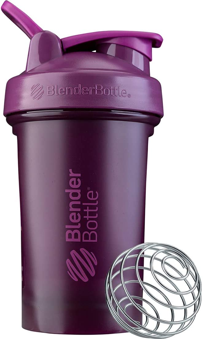 BlenderBottle Classic V2 Shaker Bottle, 20-Ounce, Plum