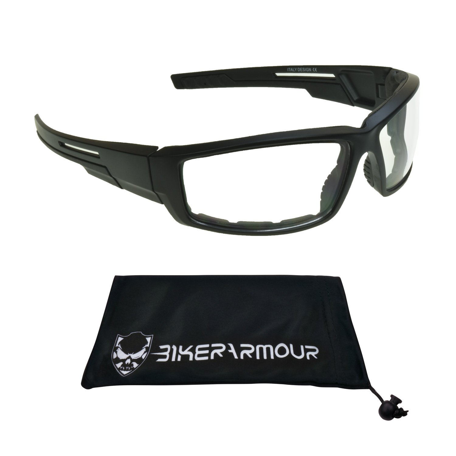50a671f8ea03 Amazon.com  Motorcycle Riding Glasses Clear Night Vision Windproof Shield  Men  Automotive