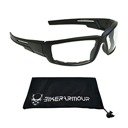 c7518f48f7f Amazon.com  Motorcycle Riding Glasses Clear Night Vision Windproof Shield  Men  Automotive