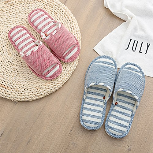 Moodeng House Slippers Women Men Home Indoor Shoes Lightweight Slide Washable Non-Slip Slipper by Red dq7in