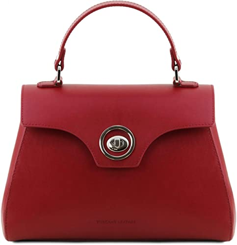 Tuscany Leather TLBag Leather duffel bag Red