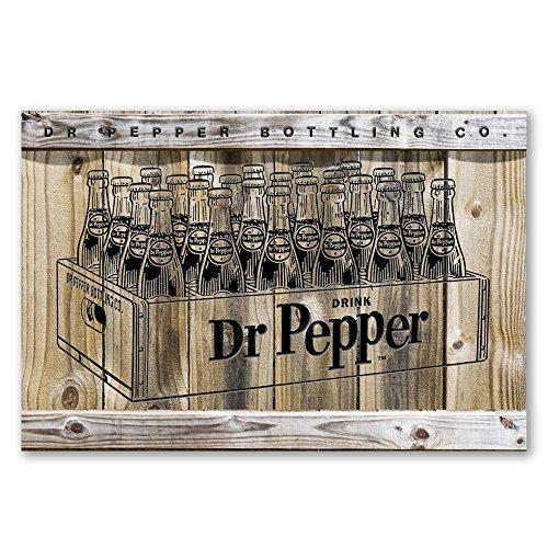 Dr Pepper Bottle Case with 3D Elements 12 X 18