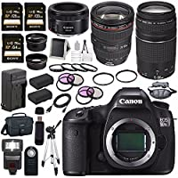 Canon EOS 5DS-R 5DSR DSLR Camera + EF 24-105mm f/4L IS USM Lens + Canon EF 75-300mm f/4-5.6 III Telephoto Zoom Lens + Canon EF 50mm f/1.8 STM Lens + Canon 100ES EOS shoulder bag Bundle 8