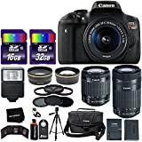 "Canon EOS Rebel T6i Digital SLR Camera International Version + 18-55mm ""STM"" Lens + 55-250mm STM Zoom Lens + Telephoto & Wide Lenses + Canon Case + Flash + ND & UV Filter Set + 48GB SD Memory + Tripod"