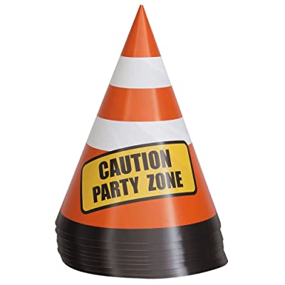 Safety Traffic Cone Construction Party Table Decorations, 8ct: Kitchen & Dining