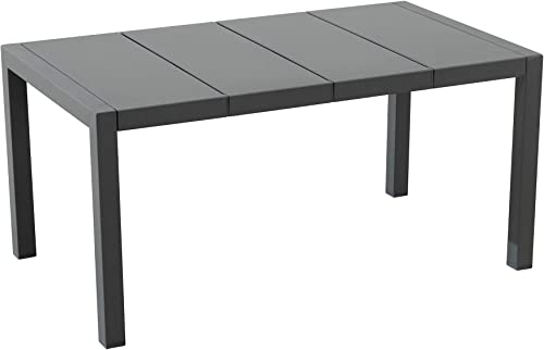 Amazon Brand – Ravenna Home Archer Outdoor Patio Steel Coffee Table with Panel Top, 38 W, Gray