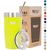 Healthy Human Insulated Tumbler Cruisers with Stainless Steel Straw & Clear Lid - Keeps Hot & Cold Beverages 2 Times Longer - Vacuum Double Walled Thermos 20 oz. Mojito
